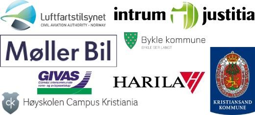 Referanser: Luftfartstilsynet, Intrium Justitia, Møller bil, Bykle kommune, Givas, Harila, Kristiansand kommune, Høyskolen Campus Kristiania