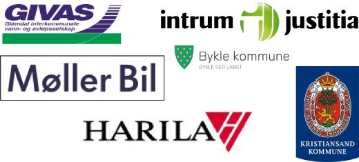 Referanser: Intrium Justitia, Møller bil, Bykle kommune, Givas, Harila, Kristiansand kommune